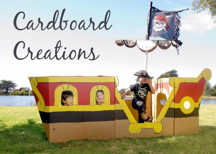 Turning Cardboard into a Playhouse - plans and photos