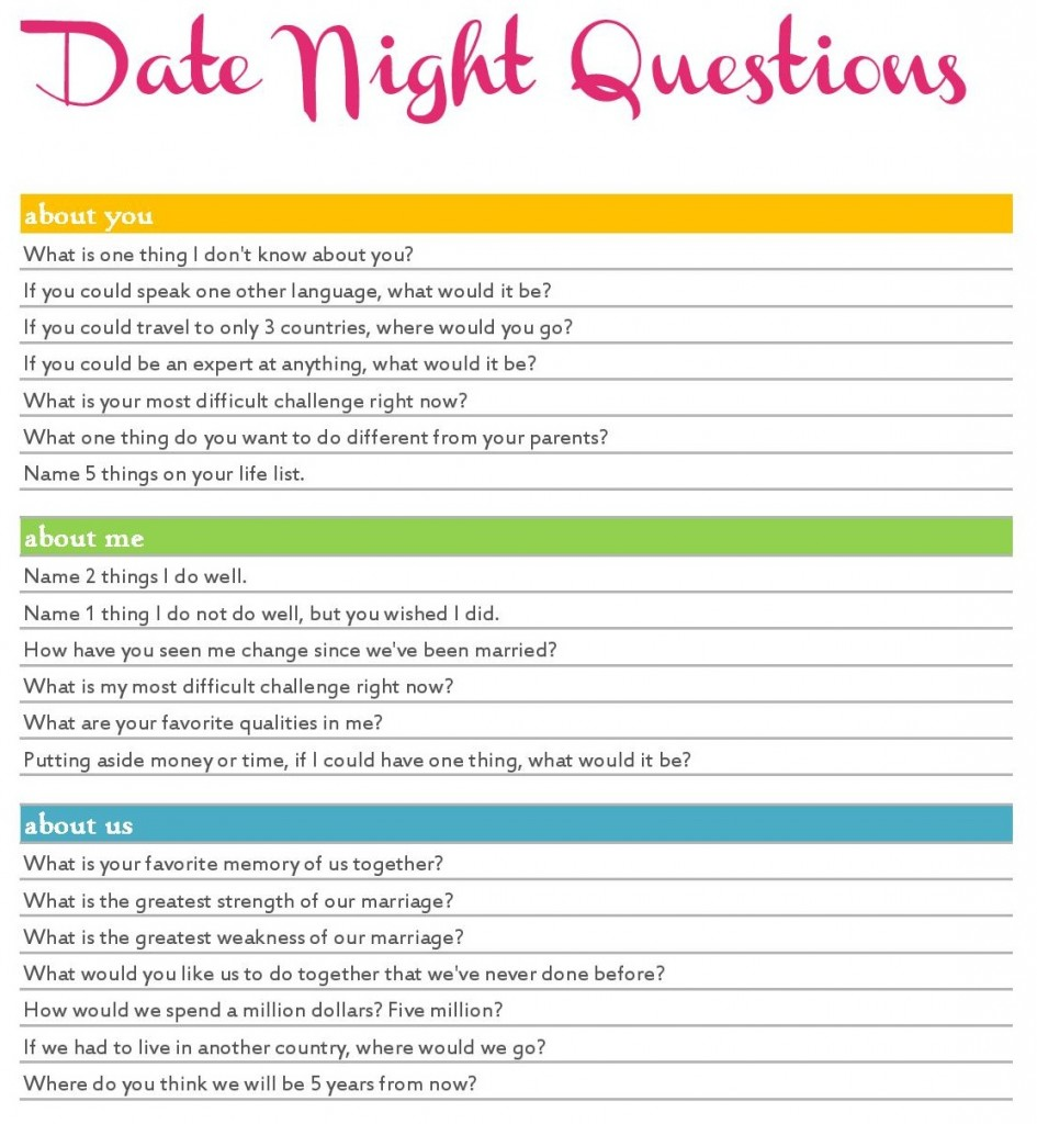 Date night quiz northampton