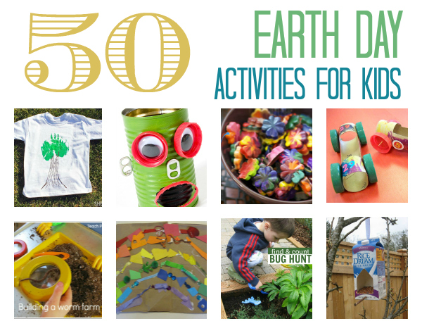 50 Earth Day Activities for Kids on mommygoesgreen.com