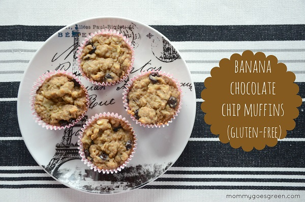 banana chocolate chip muffins (gluten-free)