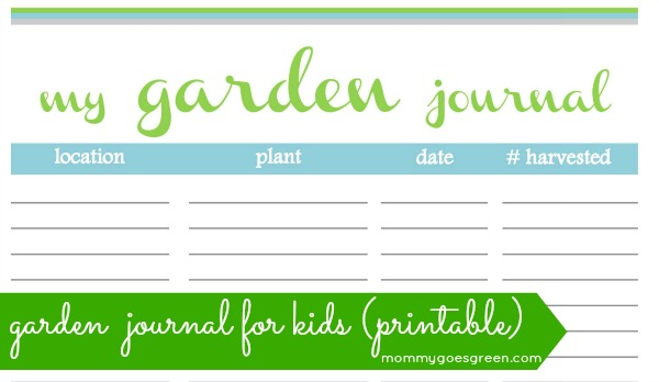 garden journal for kids (printable)