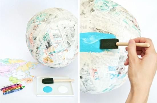 painting globe