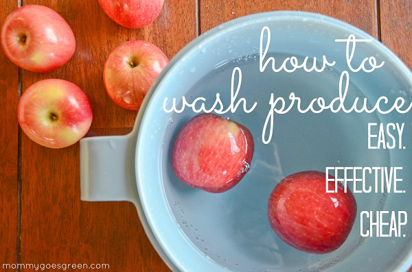 how to wash produce {easy