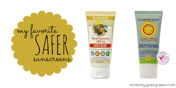 my favorite SAFER sunscreens