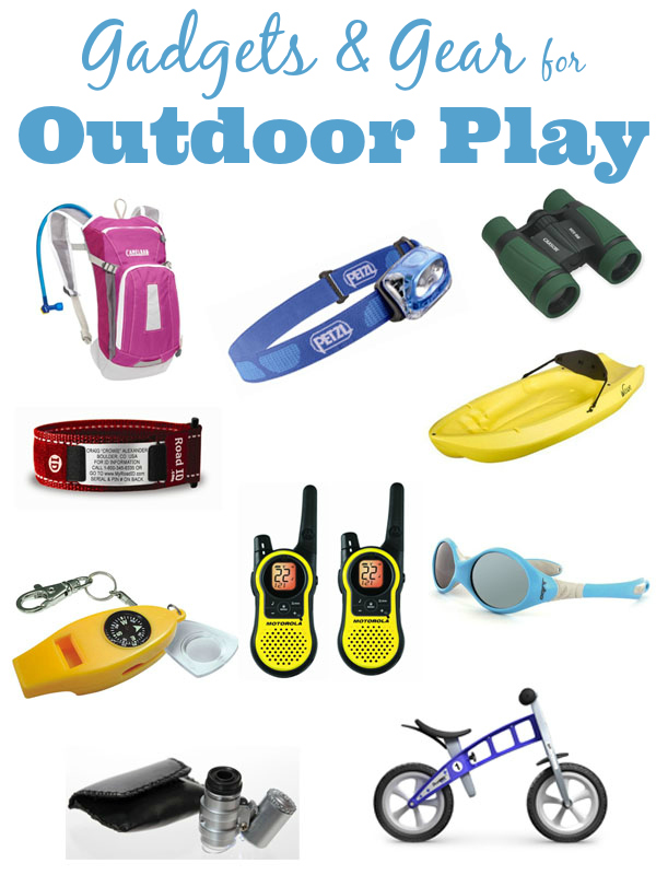 Gadgets and gear for kids to play outside. How fun!