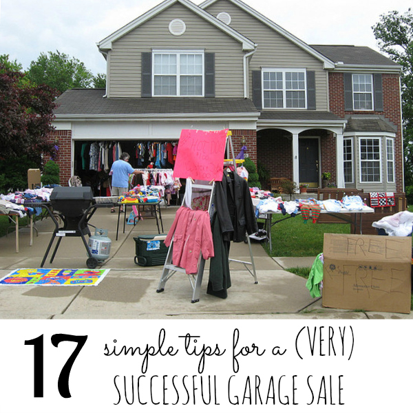 7 simple tips for a VERY successful garage sale