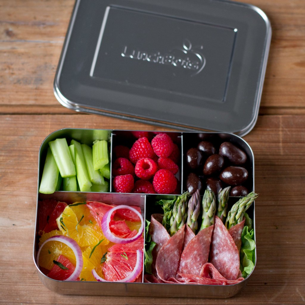 stainless steel bento lunch box nz planetbox rover stainless steel bento lunchbox with 2 tri. Black Bedroom Furniture Sets. Home Design Ideas